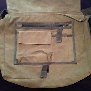 bon Jovi Large army green multi pocket VIP bag